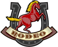 Rodeo prancing horse horseshoe Stock Images
