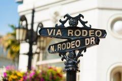 Rodeo Prowadnikowi znaki uliczni Obrazy Stock