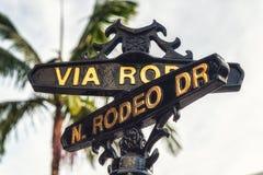 Rodeo Prowadnikowy znak uliczny Obrazy Stock