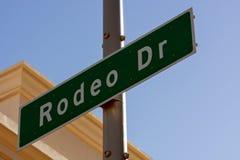 Rodeo przejażdżka podpisuje wewnątrz Beverly Hills Kalifornia Zdjęcie Royalty Free