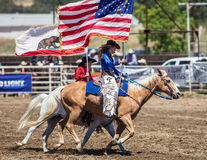 Rodeo Queen. And drill team member at the Cottonwood Rodeo in northern California Royalty Free Stock Photography