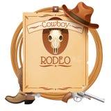 Rodeo retro affiche stock illustratie
