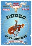 Rodeo retro affiche royalty-vrije illustratie
