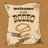 Rodeo retro poster Royalty Free Stock Image