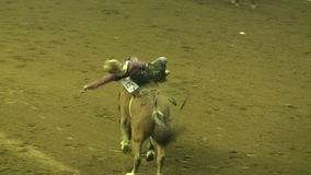Rodeo Rider Trying To Stay op Paard stock videobeelden