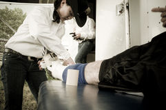 Rodeo- und Cowboysportmedizin Stockfotos