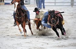 Rodeo Wrestling Stock Photos