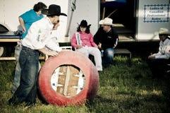 Rodeo y vaqueros Foto de archivo
