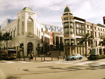 Rodeodrev, Beverly Hills, Kalifornien Royaltyfria Foton