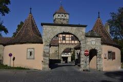 Roder Tower Bastion in Rothenburg ob der Tauber, Germany Stock Image