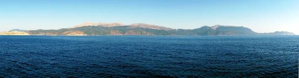 Rodes wyspy panorama zdjęcie stock