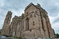 Rodez Cathedral is a Roman Catholic cathedral, and a national monument of France stock image