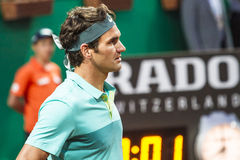 Roger Federer. In ATP250 Istanbul Open 27 April - 3 May 2015 at Garanti Koza Arena Royalty Free Stock Images