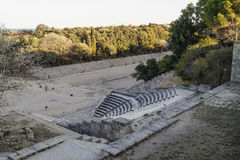 Rodhes antikvitetamfiteater Arkivfoto
