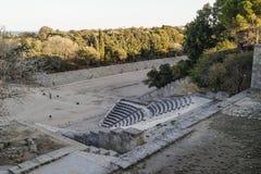 Rodhes antyka amfiteatr Zdjęcie Stock
