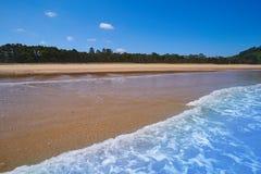 Rodiles Beach in Asturias of spain. Near villaviciosa river stock photos