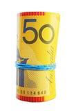 Rodillo australiano del dinero en circulación Fotografía de archivo libre de regalías