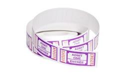 Rodillo de boletos púrpuras Imagen de archivo libre de regalías