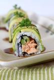 Rodillo de color salmón del aguacate Fotografía de archivo
