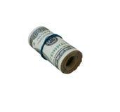 Rodillo de 100 cuentas de dólar Imágenes de archivo libres de regalías