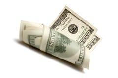 Rodillo de dólares imagen de archivo libre de regalías