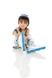 Rodillo de la muchacha Imagen de archivo libre de regalías