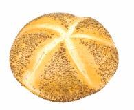 Rodillo de pan de Kaiser con la amapola imágenes de archivo libres de regalías