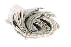 Rodillo de periódicos Imagen de archivo libre de regalías