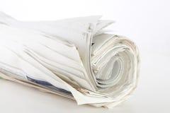 Rodillo de periódicos Imágenes de archivo libres de regalías