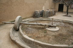 Rodillo de piedra en ShanXi del norte Foto de archivo