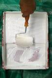 Rodillo de pintura Foto de archivo libre de regalías