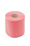 Rodillo de un papel higiénico, aislado en blanco Foto de archivo