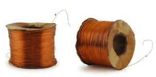 Rodillo del alambre de cobre Foto de archivo libre de regalías