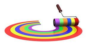 Rodillo del arco iris Fotos de archivo libres de regalías