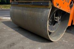 Rodillo del asfalto Imagen de archivo