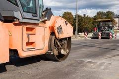Rodillo del asfalto Fotografía de archivo libre de regalías