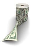Rodillo del dólar Fotos de archivo libres de regalías