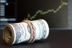 Rodillo del dinero Fotografía de archivo libre de regalías