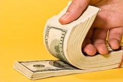 Rodillo del dinero foto de archivo