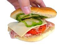 Rodillo del jamón y del queso Imagen de archivo libre de regalías