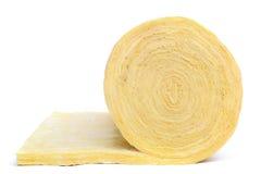 Rodillo del material de aislante de la fibra de vidrio Fotografía de archivo