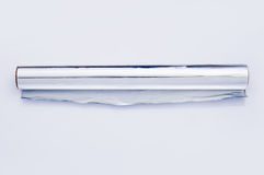 Rodillo del papel de aluminio Fotografía de archivo