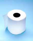 Rodillo del papel higiénico blanco Fotos de archivo libres de regalías