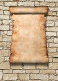 Rodillo del pergamino en la pared ilustración del vector