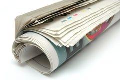 Rodillo del periódico fotografía de archivo