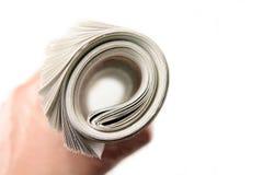 Rodillo del periódico imágenes de archivo libres de regalías