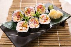 Rodillo del sushi Imagen de archivo libre de regalías