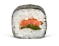 Rodillo del sushi en blanco Imagenes de archivo