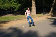 Rodillo en Hyde Park, Londres. fotografía de archivo libre de regalías