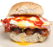 Rodillo grande del desayuno Foto de archivo